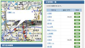 位置座標を地図サービスを利用してウェブサイトに公開する場合の例