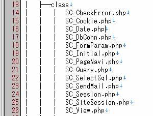 tree コマンドで出力したファイルの例