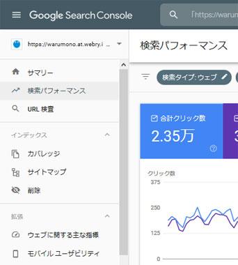 Google Search Console で検索キーワードを確認する