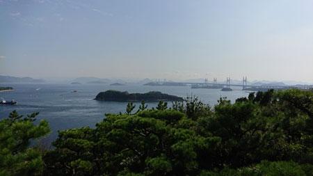 第二展望台から見た瀬戸大橋の全景
